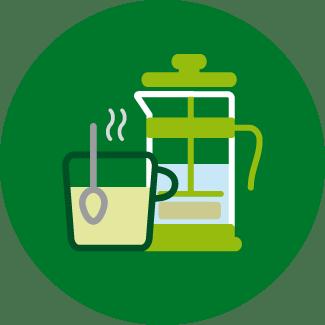 Iconos web-Cafetera embolo