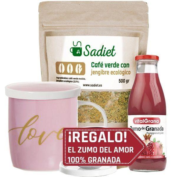 pack-regalo-zumo-granada---cafÉ-verde-con-jengibre-500g-+-taza-love